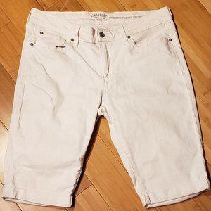 Levi's Modern Skinny Bermuda Cuff Jeans, White EUC